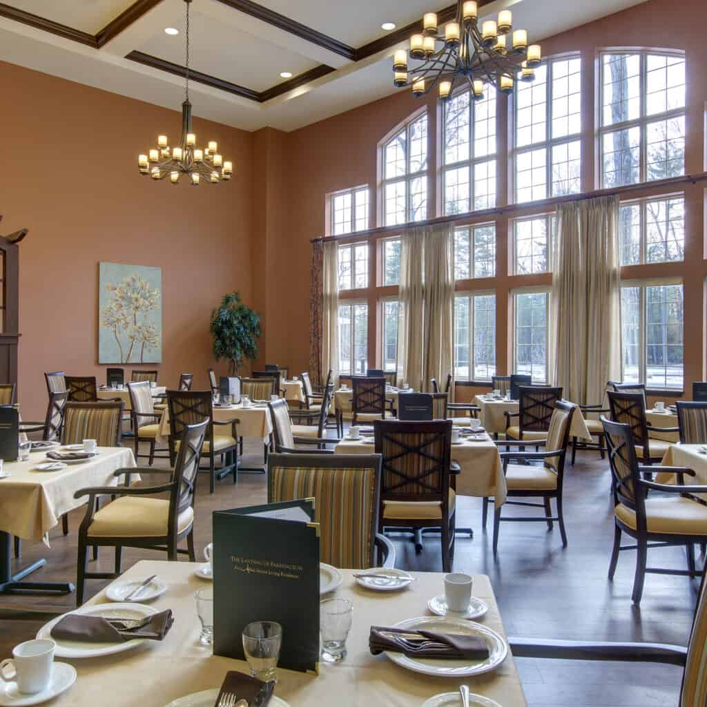 A photo of the dining room at Farmington Station