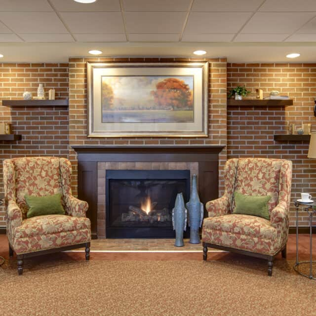 A photo of the foyer at Farmington Station
