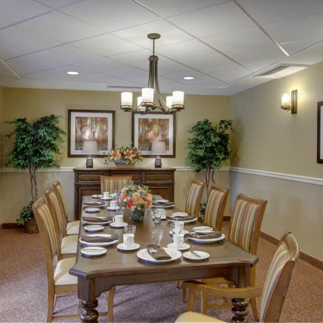 A photo of the private dining room at Farmington Station