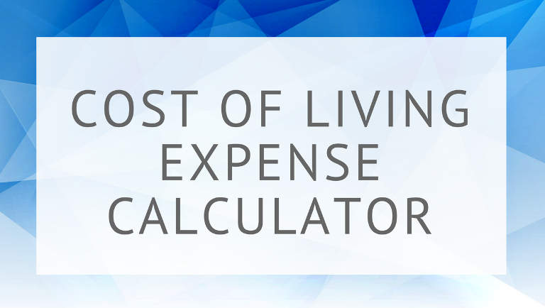 Cost of Living Expense Calculator