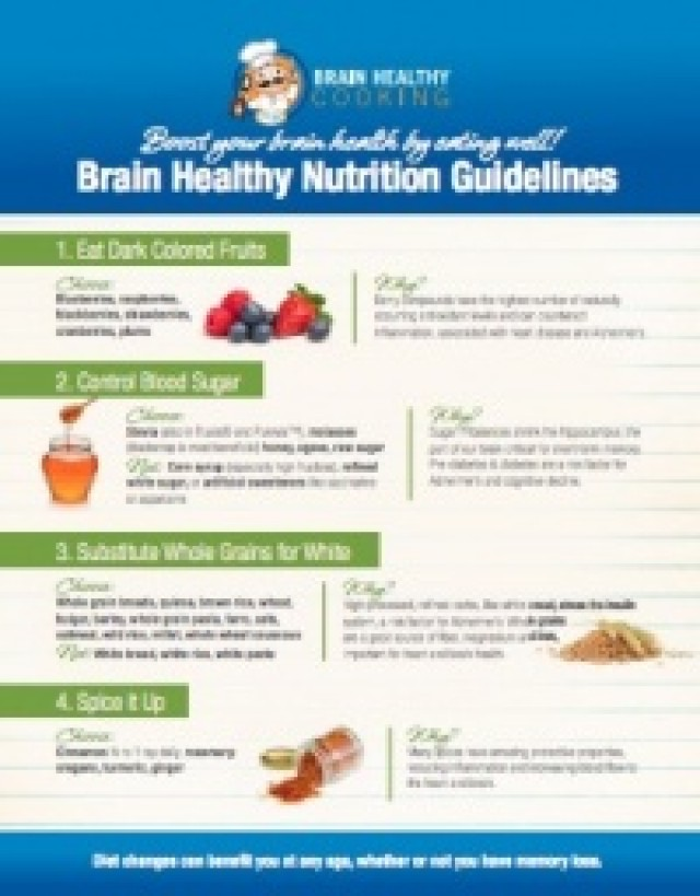 Brain Healthy Cooking Guidelines